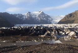 Photo of melt in front of Svinafellsjökull Glacier Icleand