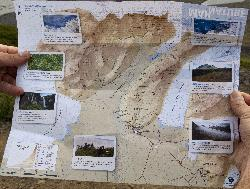 Sakftafell Trail Maps shows all the hiking trails within Skaftafell National Park