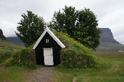 Nupsstadur farm in Iceland - small church on site.