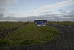 Hotel Laki  Efri-Vik in Icleand - Road sign