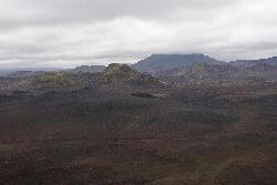 view from top of Ljotipollur - explosion crater in Iceland.
