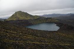 Ljotipollur - explosion crater in Iceland.