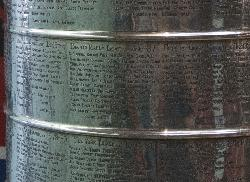 Toronto Maple Leaf 1966-67 Names on Stanley Cup