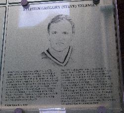 Steve Yzerman Hall of Fame Photo and Plaque.