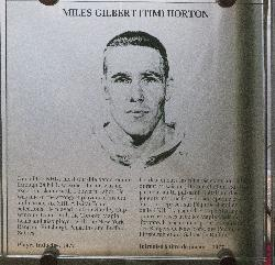 Tim Horton Hockey Hall of Fame photo and plaque.