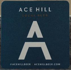 Ace Hill Beer Coaster - Blue - 2017