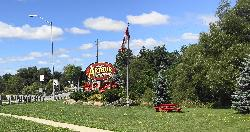 The official welcome sign to the town of Arthur Ontario. Located at Highway 7 and Wellington County Road 109. The sign says 'Gateway to Wellington North'.  This was updated prior to 2019 but after 2015.