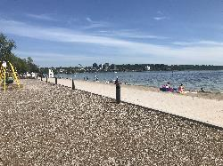 Barrie Centennial Beach view to the north (June 2020)