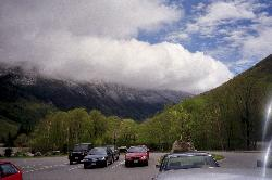 Cannon Mountain New Hampshire - view from Parking Area