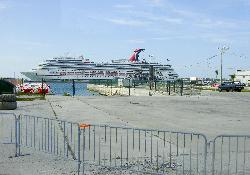 Carnival Freedom at the Port Everglafes Port