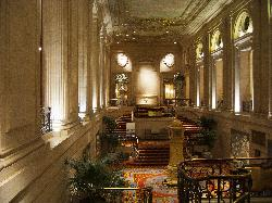 View from above of the Palmer House Hilton in Chicago.