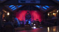 Pre-show stage setup at Chicago House of Blues lower level.