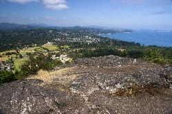 View of Cordova Bay looking West from the summit of Mount Douglas in British Columbia.