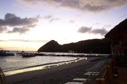 Sandals Grande St. Lucian evening view from beach