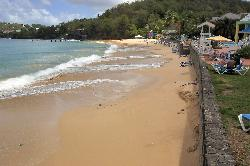 Photo of beach at Sandals La Toc Resort in St. Lucia.  Formerly known as Sandals Regency.