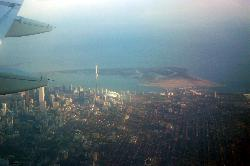 Photo of Toronto and CN Tower from airplane