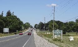 The Nobleton Ontario welcome sign along Highway 27 northbound.