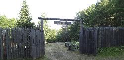 What would have been the entrance gate to Fort Willow.  Located in Ontario near the minesing swamp.