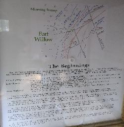 Describes the area before the existance of Fort Willow.  Shows where the shores of Lake Algonquin would have been. Located in Ontario near the minesing swamp.