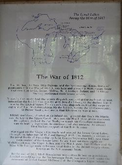 Signpost at Fort Willow - showing war of 1812 involvement