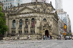 Photo of the Hockey Hall of Fame bulding at Yonge Street and Front Street in Toronto Ontario.  NHL.  IIHF.  This building was previously a Bank of Montreal building.