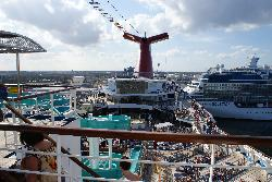 Carnival Freedom Lido Deck with Main Pool