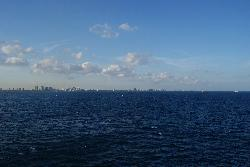 Skyline of Fort Lauderdale from Departing Cruise Ship