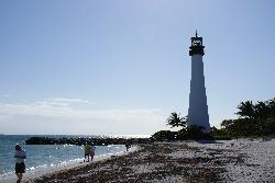 Cape Florida Lighthouse on Key Biscayne.
