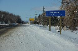 Meaford, Ontario, Canada - Population  Sign