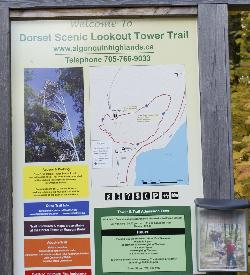 Dorset Lookout Tower site map from sign post.