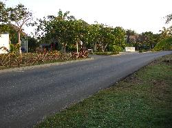 Street view leading to entrance or Sandals Royal Hicacos Resort and Spa in Varadero Cuba.