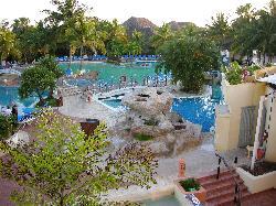 View of main pool at Sandals Royal Hicacos Resort and Spa in Varadero Cuba.