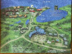 Deerhurst Resort site map.  Showing all buildings and facilities at the resort.  Taken from a flyer.
