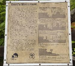 Describes the formation of the Devils Monument Flowerpot in the Bruce Peninsula.