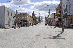 Downton view of Drayton Ontario heading south on Wellington street, which is also known as County Road 11.