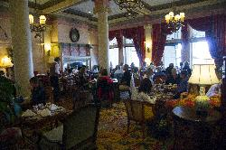 The restaurant sitting area for Afternoon Tea.  At the Fairmont Empress Hotel in Victoria British Columbia.