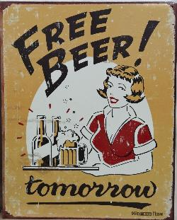 Free Beer! Tomorrow - Sign