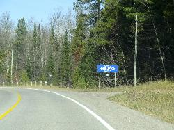 Haliburton County - Limits Sign - County Road 507