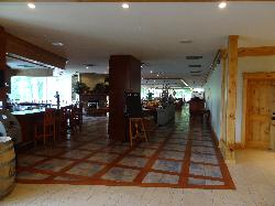 Hidden Valley Resort in Huntsville Ontario.  Looking from lobby towards the lobby bar and then the main restaurant.