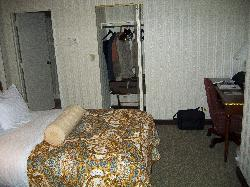 Inside guest room at Chicago Hilton