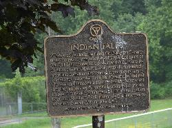 Information Sign at Indian Falls.  Along the Niagara Escarpment near Owen Sound Ontario.