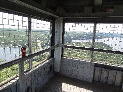 Inside the top of Dorset Tower
