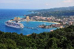 Carnival Freedom Cruise Ship docked at Ocho Rios