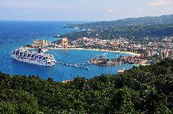 Carnival Freedom Cruise Ship docked at Ocho Rios