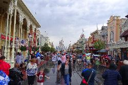 This is a daylight view of Main Street USA and Cinderella Castle.