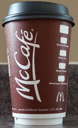 McDonalds Standard Medium Coffee Cup 2017 - Front