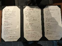 This is a photo of a menu in The Keg Steakhouse + Bar Restaurant in Barrie Ontario Canada.  Located in Park Place.