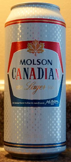 Molson Canadian Beer Can - Standard Tall Boy - 2017