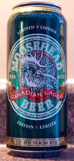 Moosehead Beer Can - Limited Edition 150 Years - front