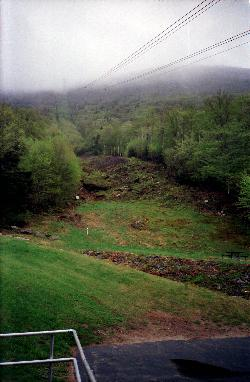 Cannon Mountain New Hampshire - view from bottom of tramway